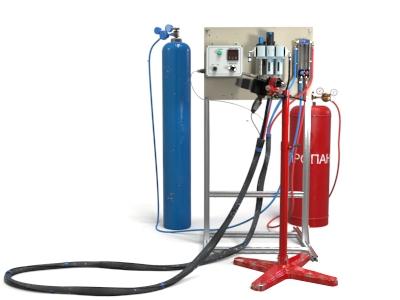 Установка газопламенного проволочного напыления с металлизатором Spray Jet 12M-El DC