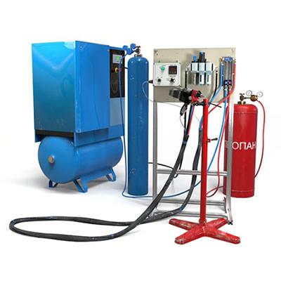 Установка газопламенного проволочного напыления